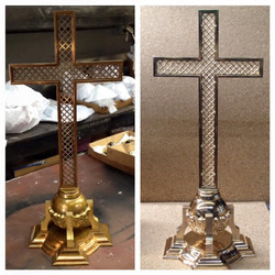 before/after St. Alphonsus cross