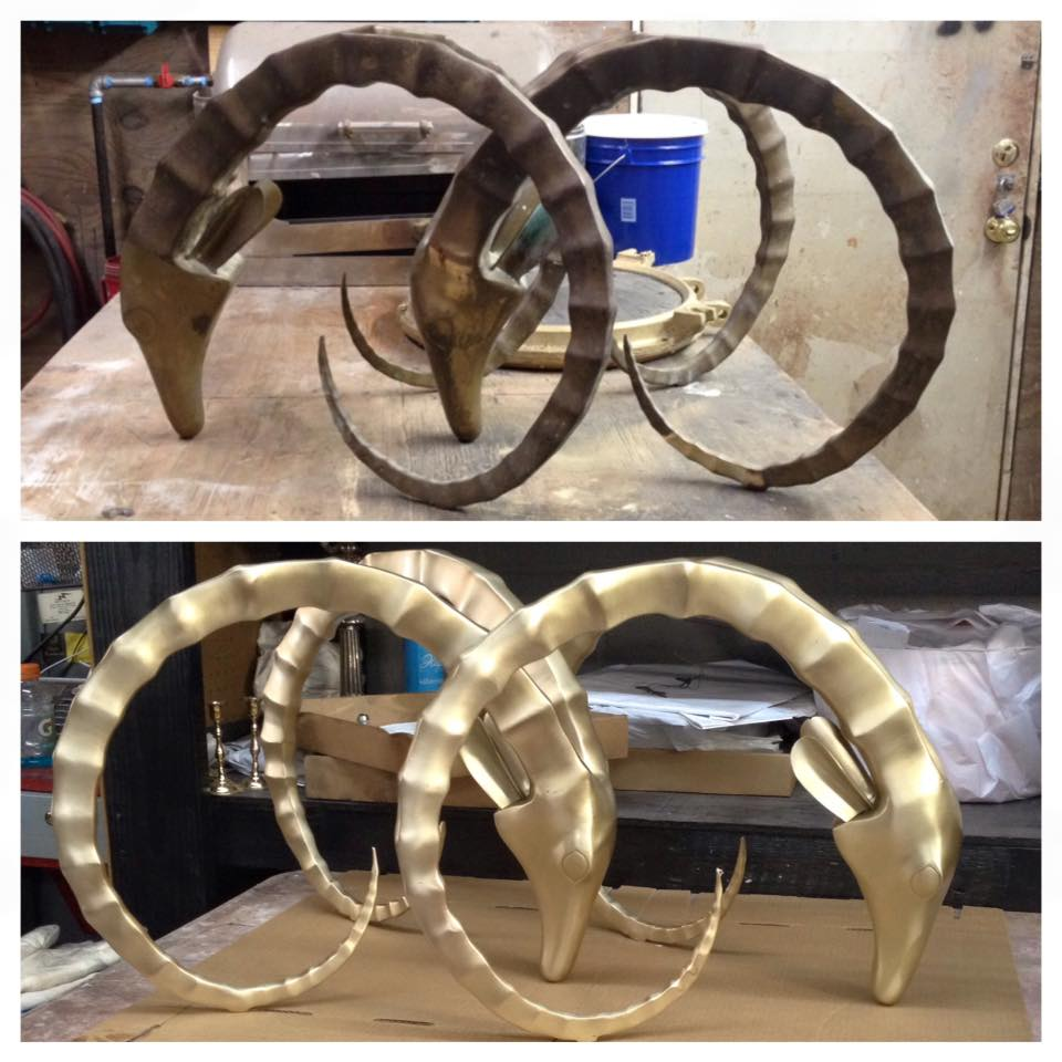 Before/after ram head table bases
