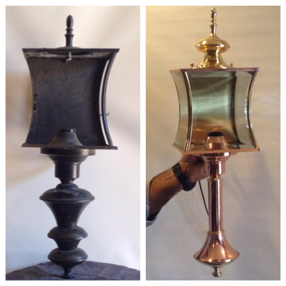 Before/after outside lantern