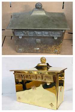 Before/after Brass mailbox