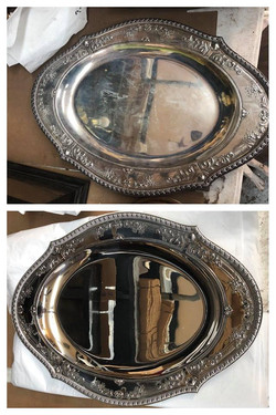 Before/after Sterling Silver tray