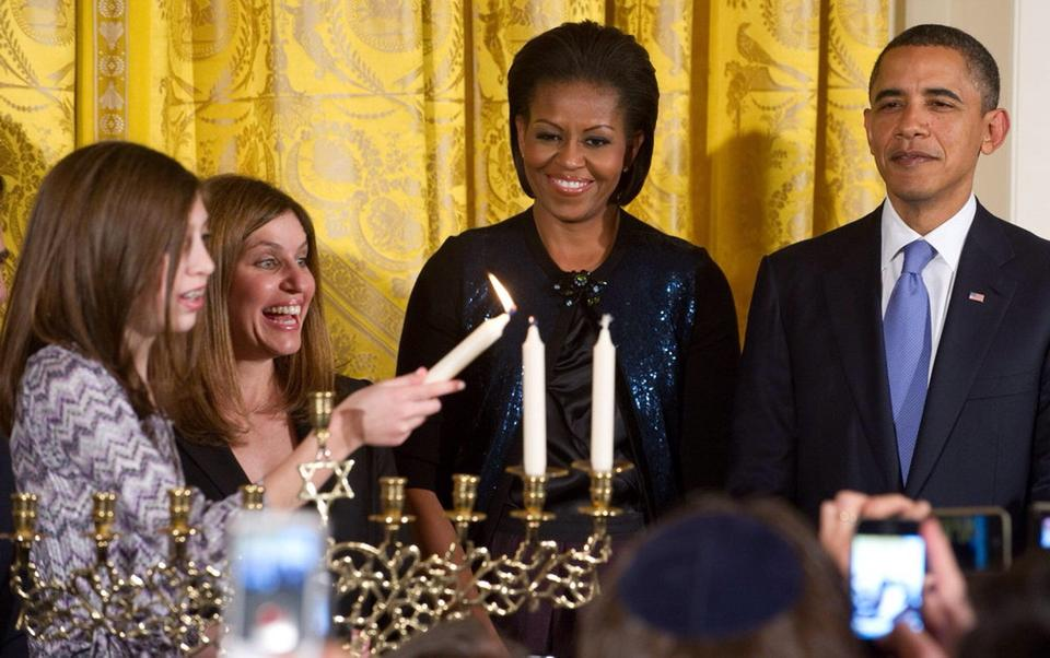 The White House menorah
