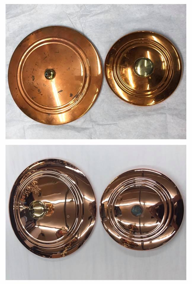 Before/after Copper tops