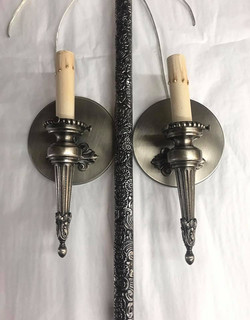 Antique handle and wall sconce pair
