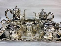 Sterling tea service
