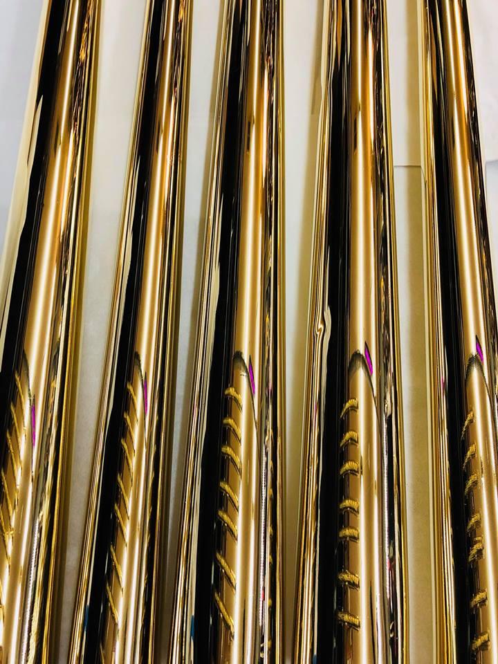 Brass hand rails