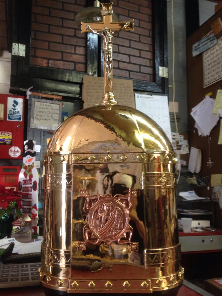 Brass and Copper dome tabernacle