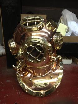 Bronze and Brass diving helmet