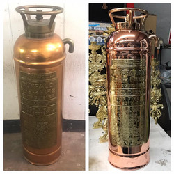 Before/after fire extinguisher