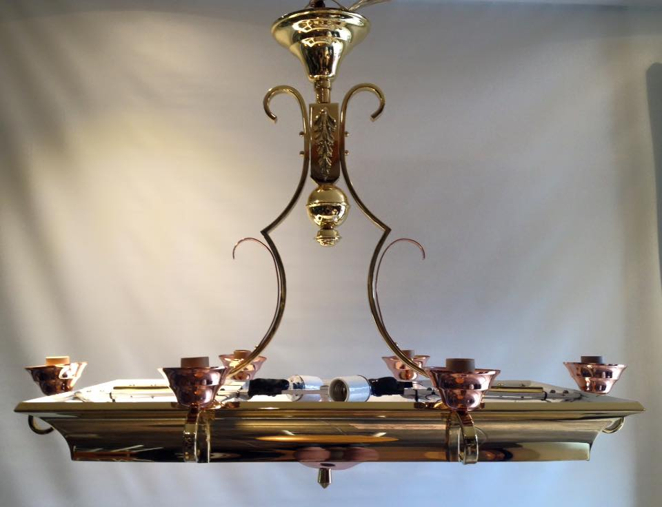 Brass/Copper kitchen light fixture