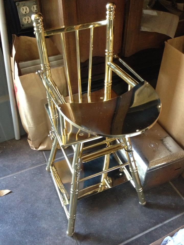 Antique Brass baby high chair