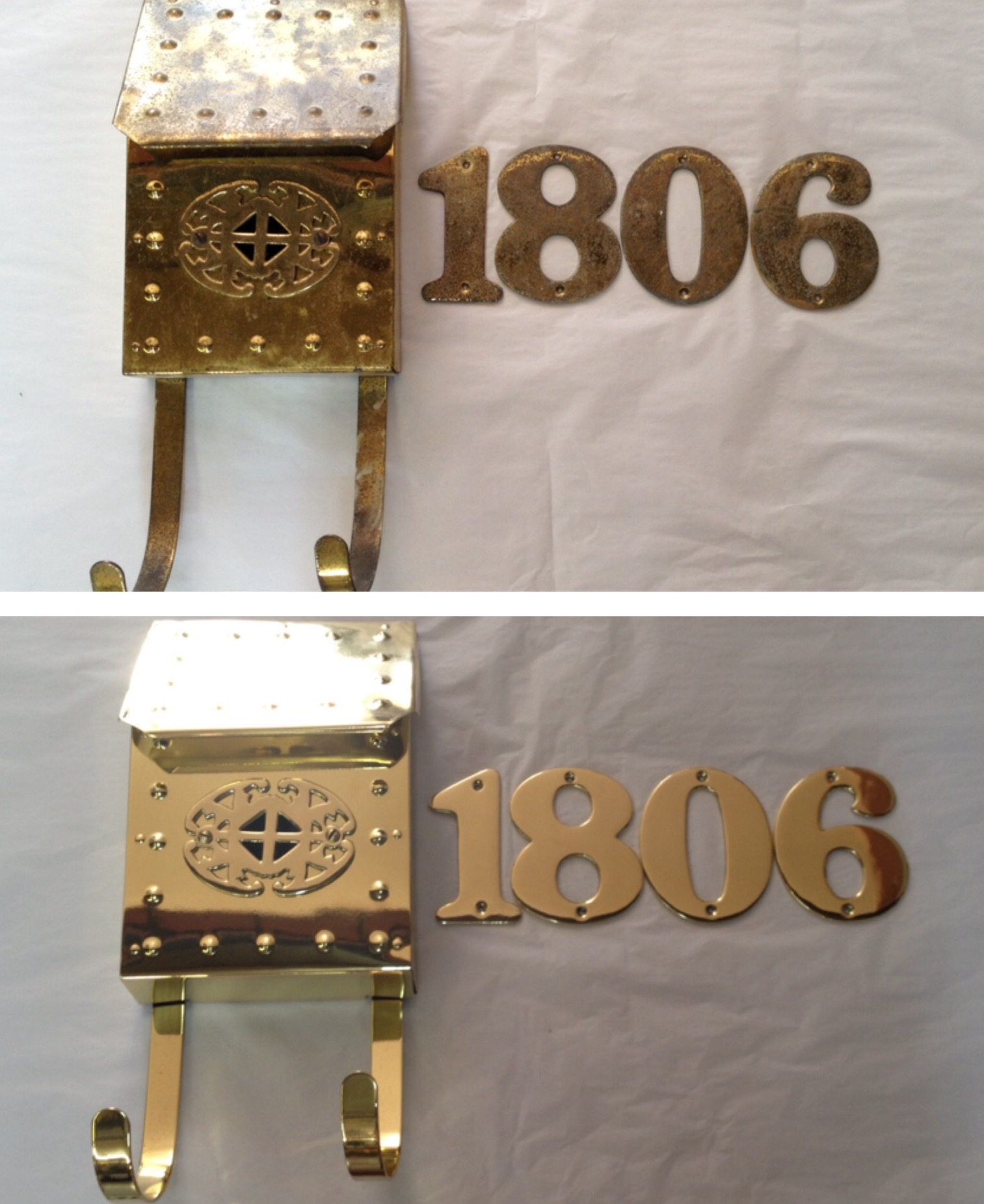 Before/after mail box & numbers