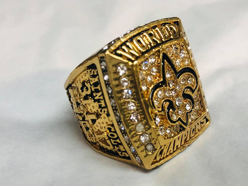 Replica Saints Super Bowl ring