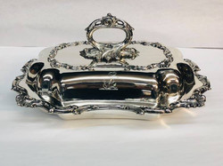 Silver plated vegetable dish