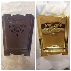 Before/after Brass mail box