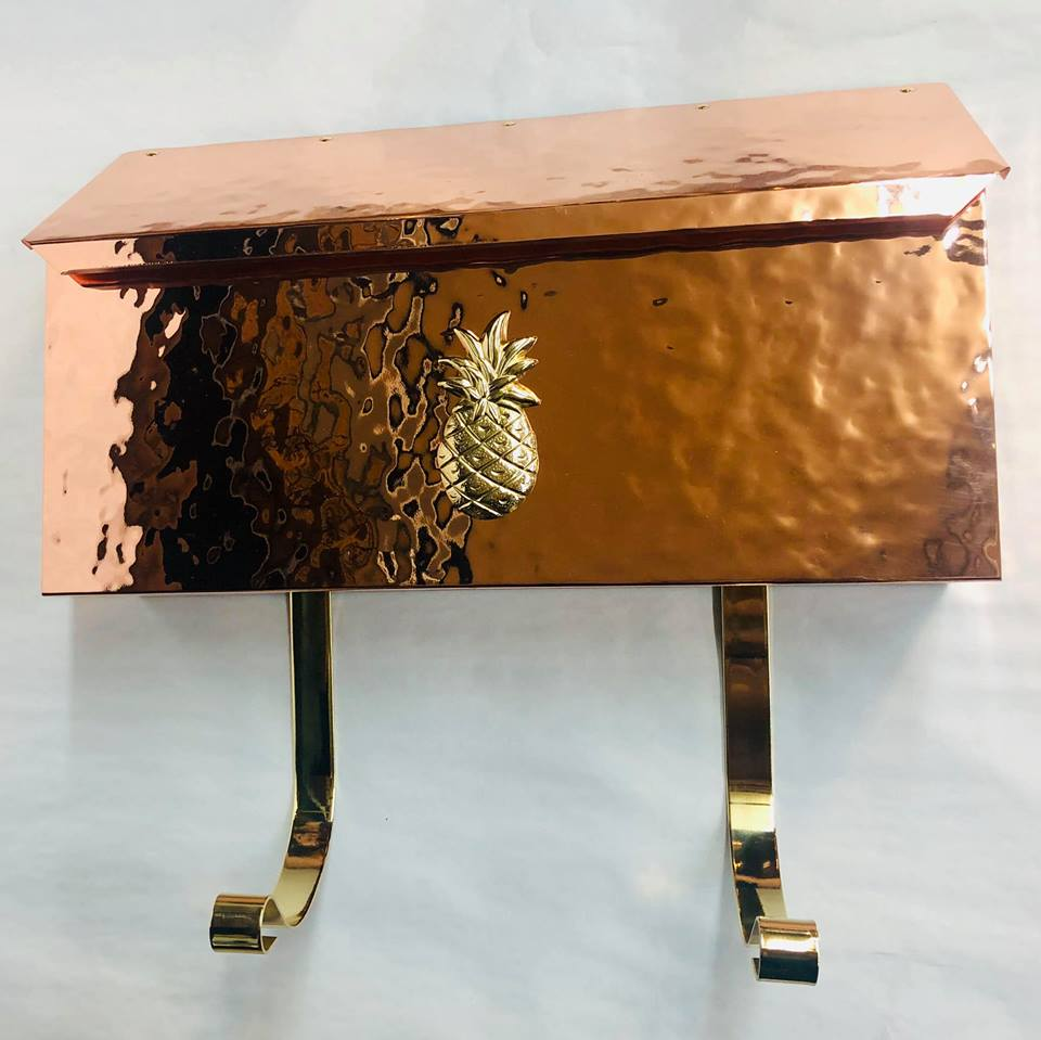 Rare Copper pineapple  mailbox