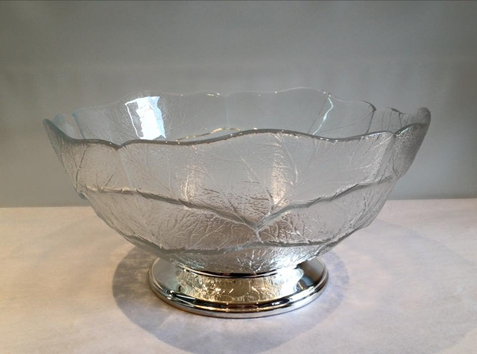 Silver plated salad bowl base