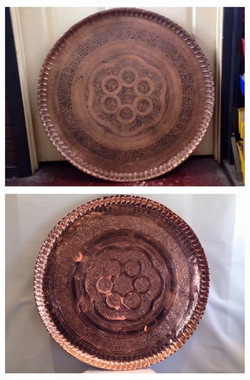 Before/after Copper tray