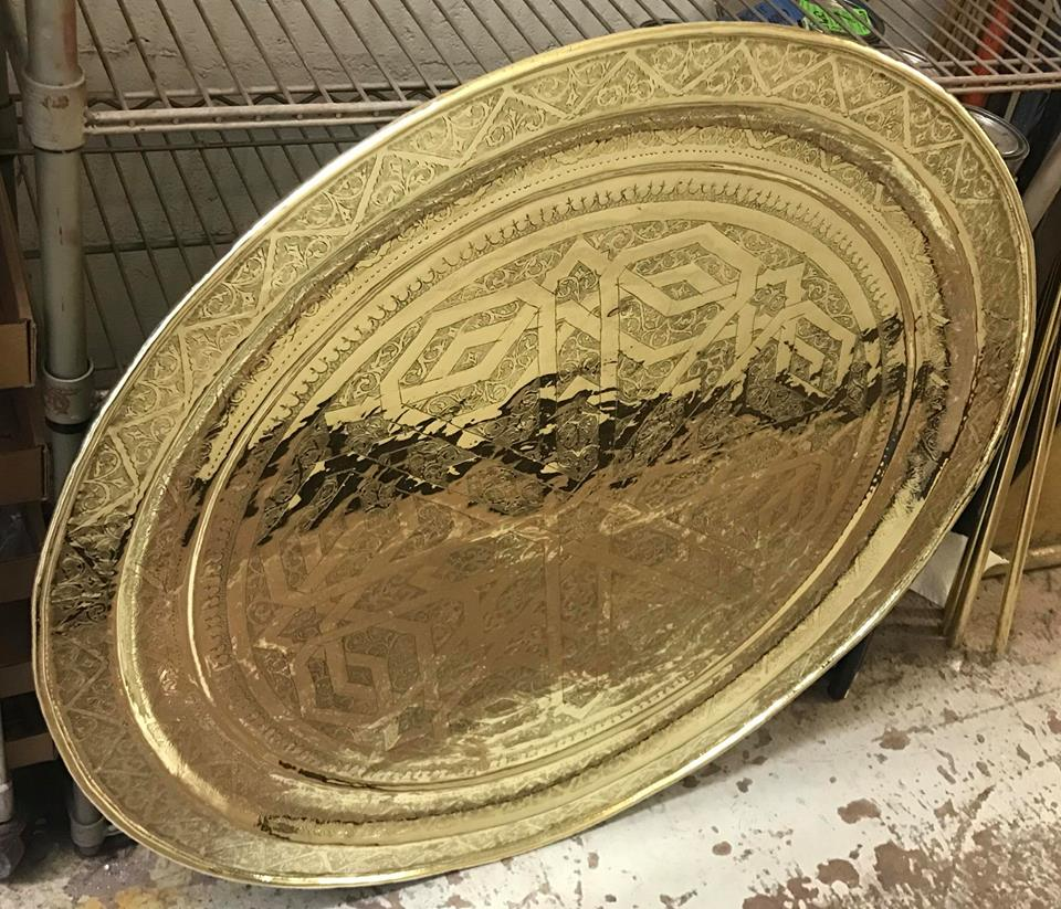 Middle Eastern Brass tray