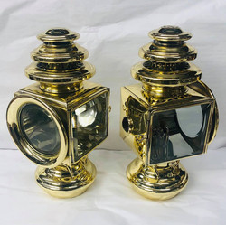 Brass boat search lights