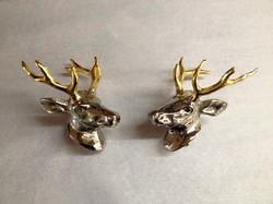 Deer head hood ornaments