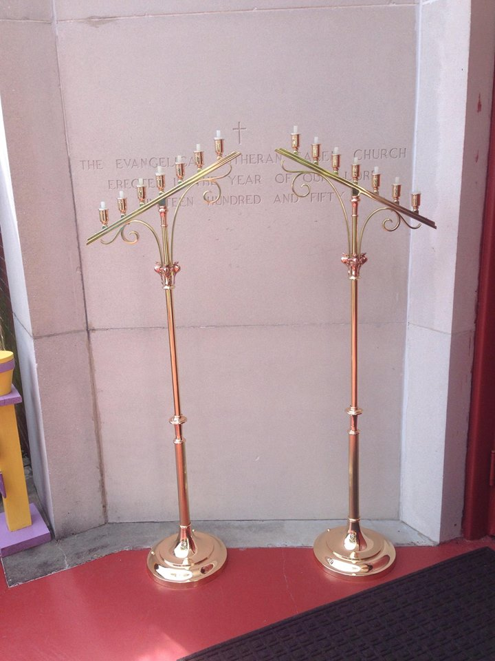 Bronze/Brass church candlesticks