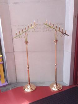 Bronze/Brass church candlesticks