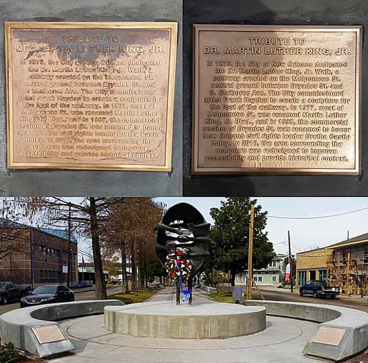 Before/after Dr. King plaque