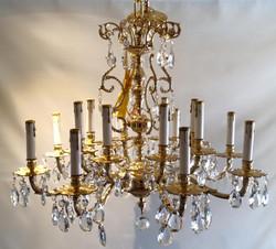 Brass 16 arm chandelier