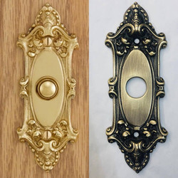 Before/after doorbell plate