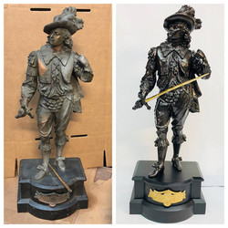 Before/after Don Juan statue