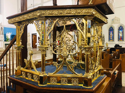 Brass church pulpit built in 1889