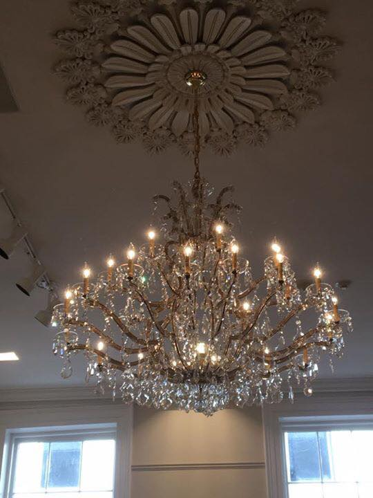 Gallier Hall chandelier