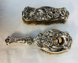 Sterling brush and mirror 2