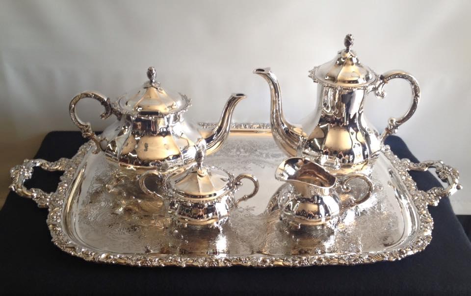 Silver tea service set