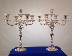 Silver plated candelabra pair