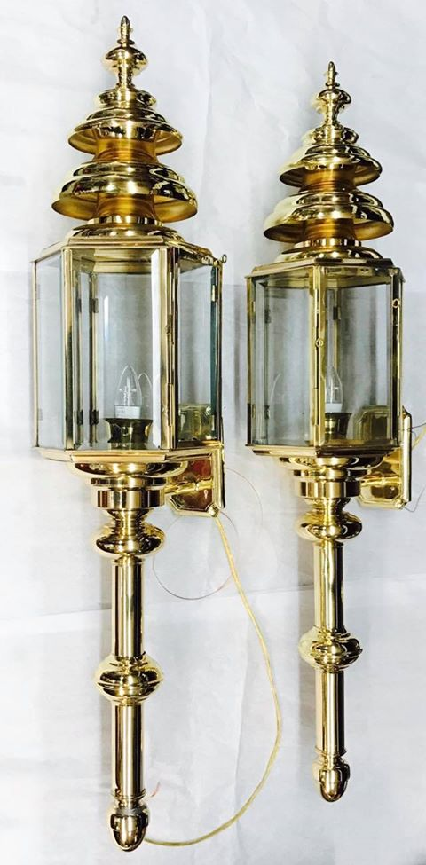Extra large Brass outside lanterns