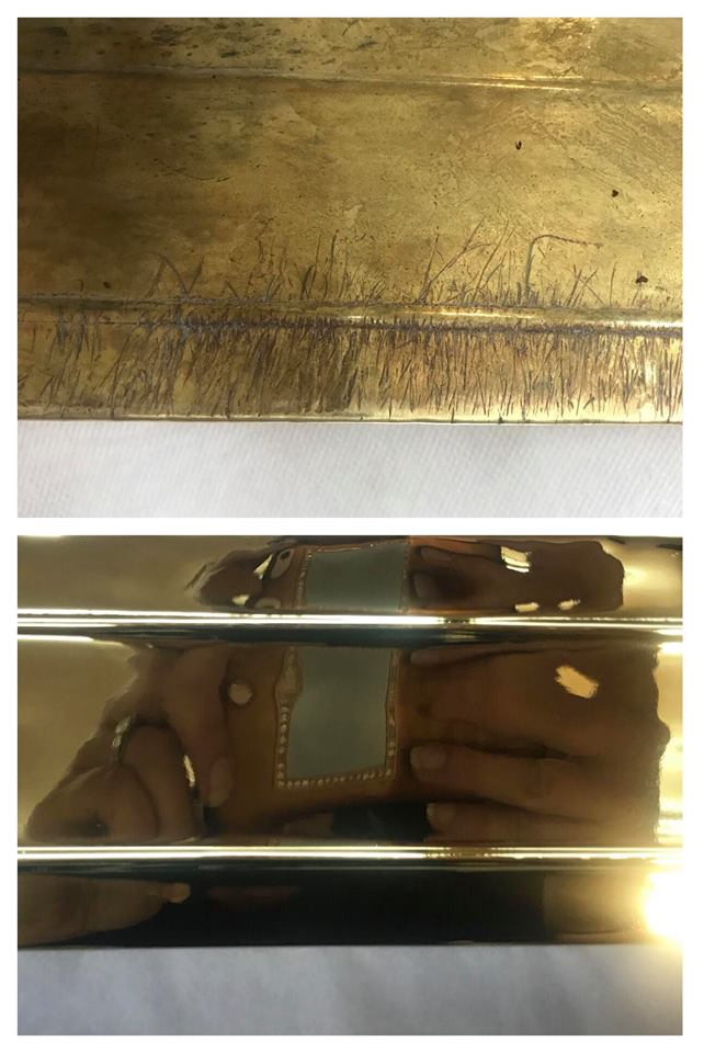 Before/after gouged mail slot