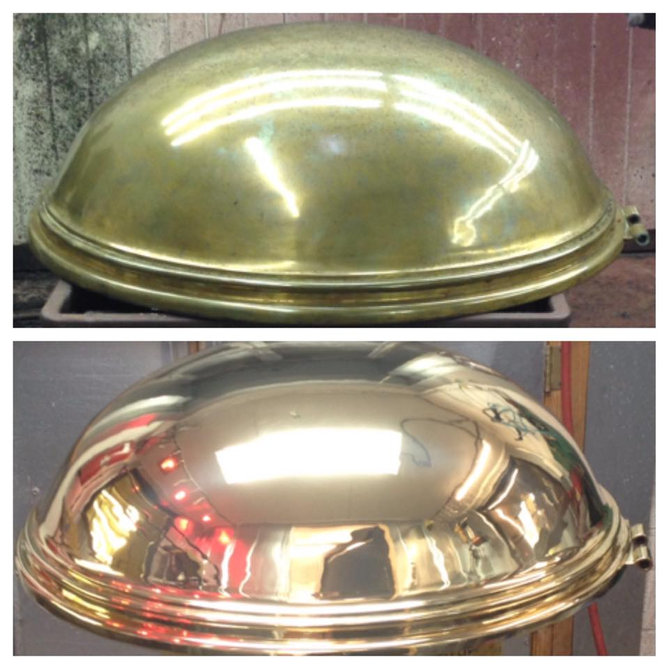 Before/after baptismal bowl top