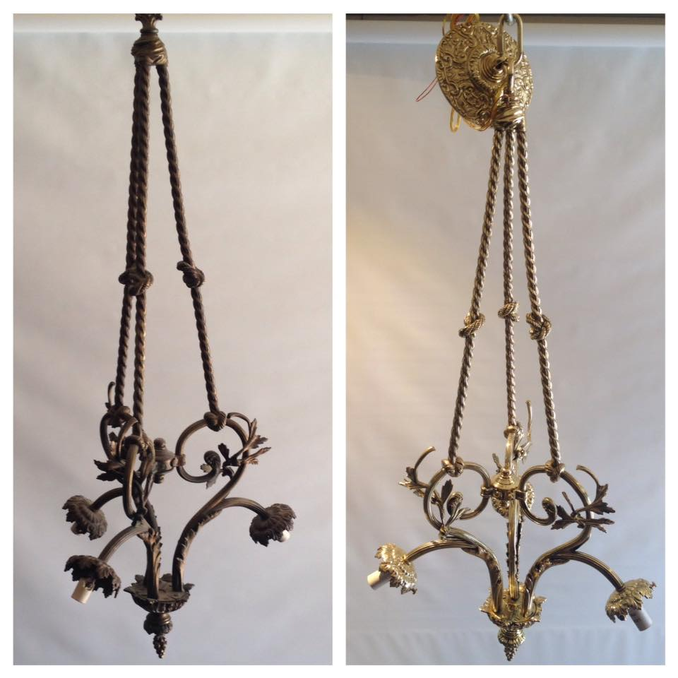 Before/after Brass fixture