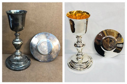 Before/after 1800s chalice & patten