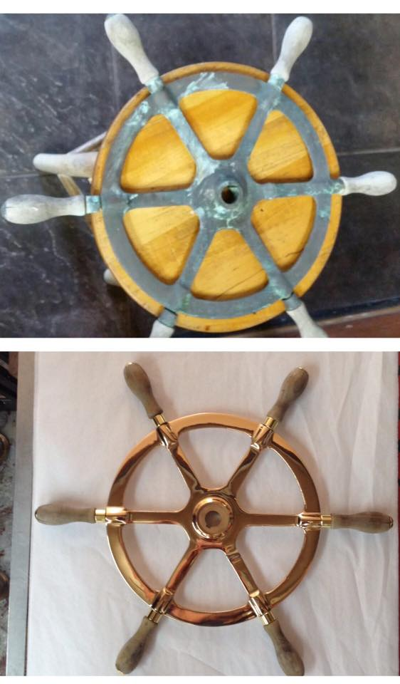 Bronze/Brass ship's wheel