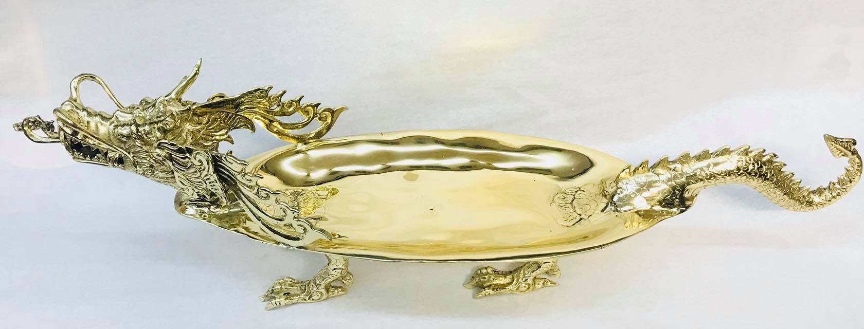 Antique Indonesian dragon tray