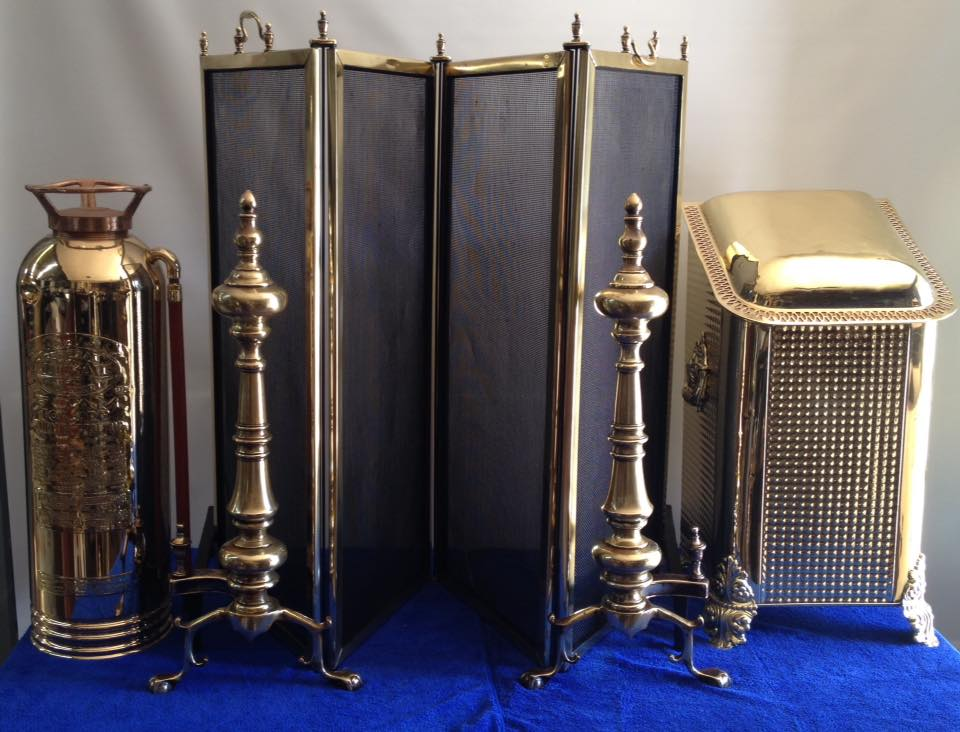 Brass fireplace items