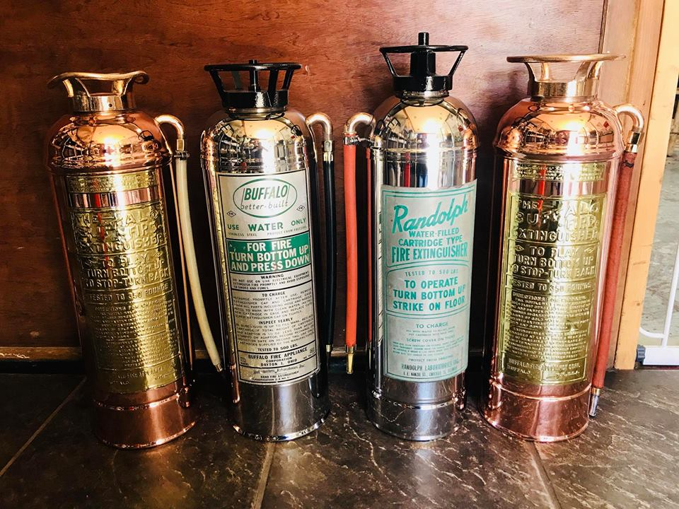 Copper & aluminum fire extinguishers