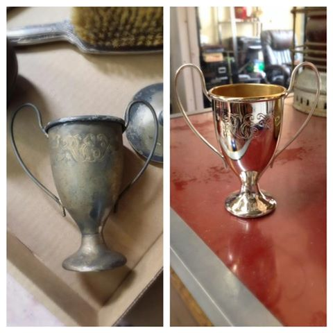 Before/after Lead goblet