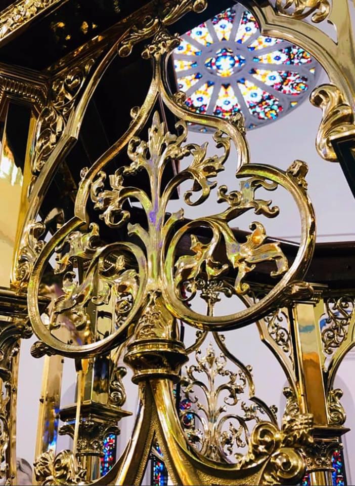 Brass church pulpit built in 1889