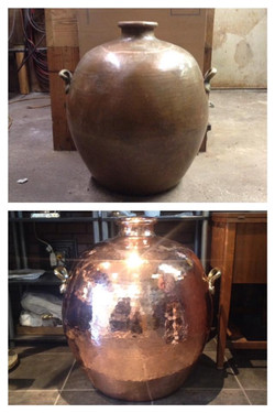 Before/after Egyptian bean pot