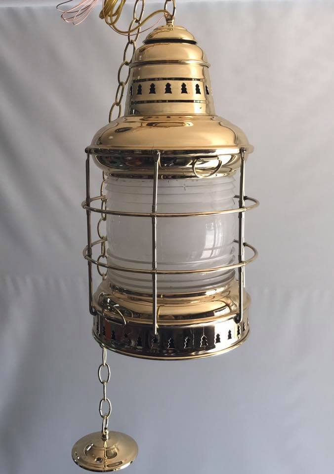 Antique Brass boat lantern