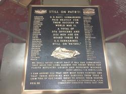 Submarine plaque for Veterans Blvd.